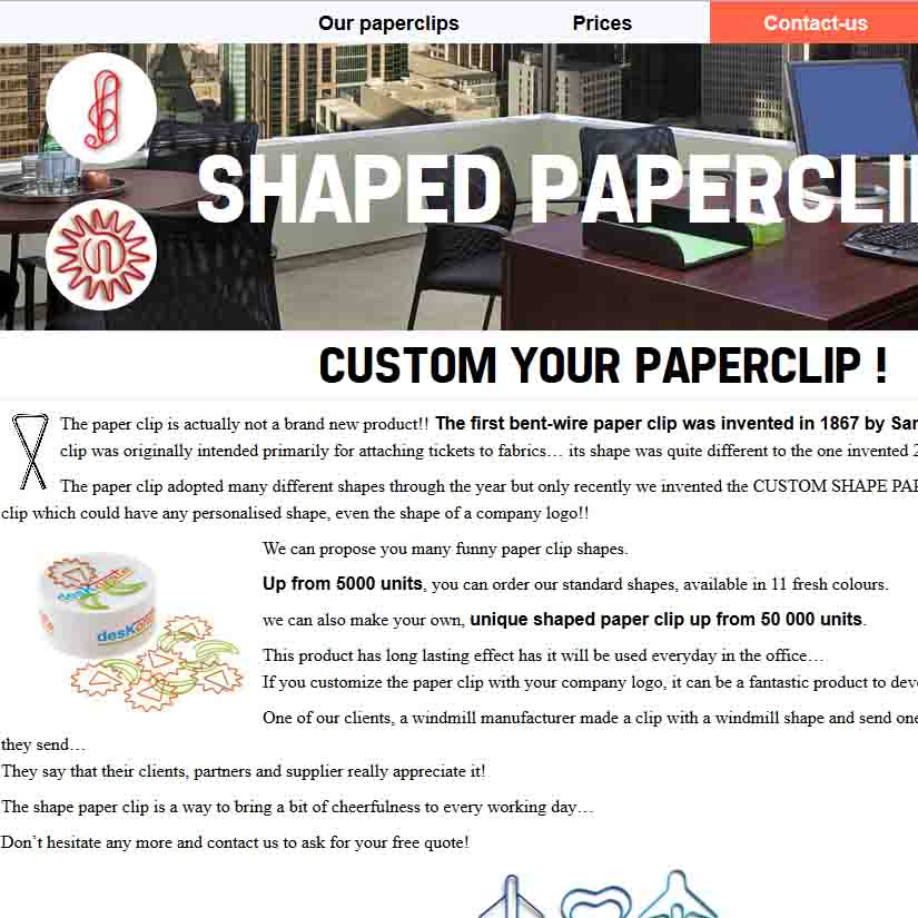 Shaped-paperclips